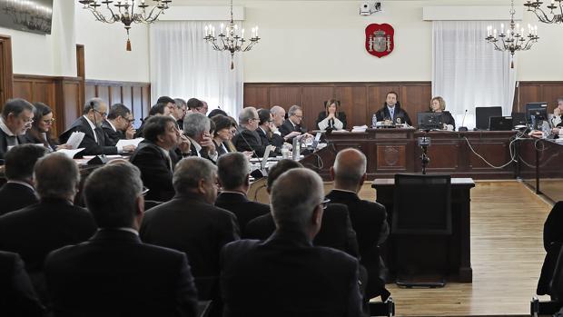 Sala de la Audiencia de Sevilla donde se celebra el caso de los ERE