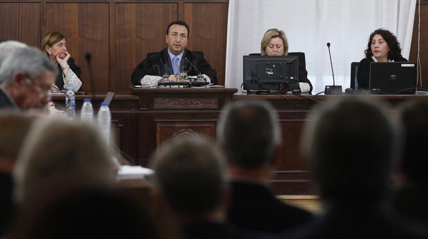 Imagen de la sala de la Audiencia de Sevilla donde se juzga el caso ERE