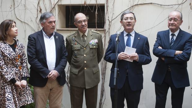 Gemma del Corral, José Cobos, Fernando Alejandre, Elías de Mateo y Francisco de la Torre, ayer