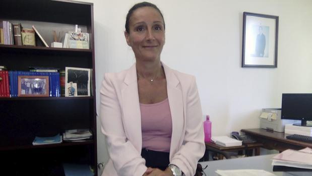 La juez María Núñez Bolaños, en su despacho