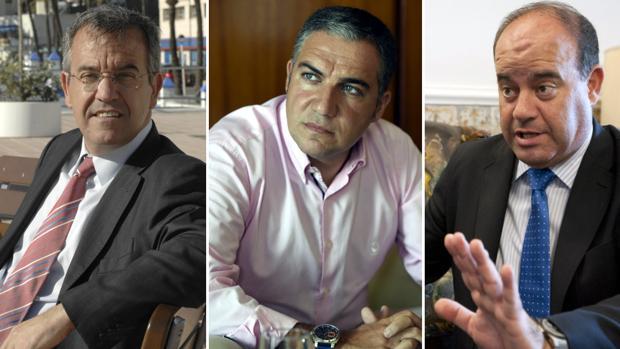 José María García Urbano, Elías Bendodo y Manuel Barón