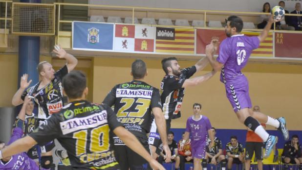 El Ángel Ximénez, en el partido ante el Guadalajara