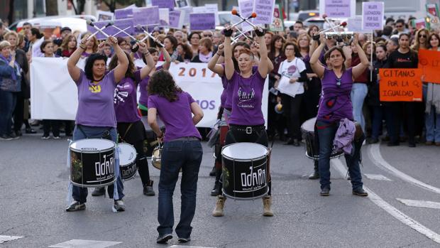 Manifestación por el Día Internacional de la Mujer celebrada en Córdoba