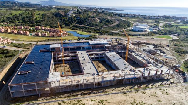 Foto aérea del hospital de Estepona