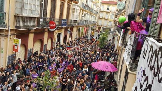 Manifestación en Málaga para que el palacio no salga a concurso público
