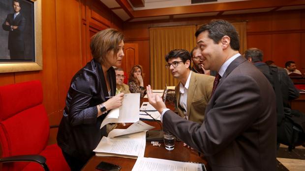 El portavoz del PP interpela a la alcaldesa en presencia de Pedro García en el salón de Plenos