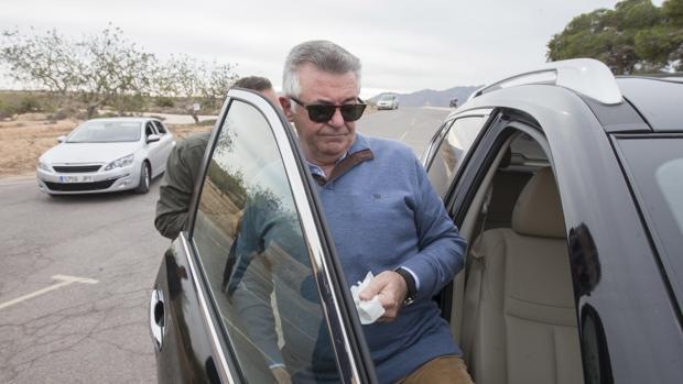 Juan Antonio Roca, en una de sus salidas de la cárcel