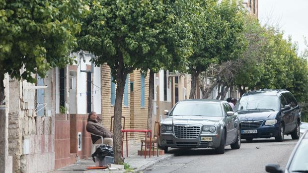 Aspecto de la calle Sanchuelo en el barrio de Fray Albino