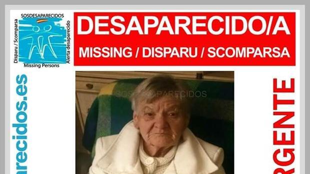 Alerta de SOS Desaparecidos para localizar a Emilia Herrera en Granada