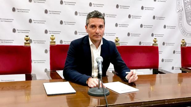 El portavoz de Ciudadanos en el Ayuntamiento de Granada, Manuel Olivares, este miércoles.