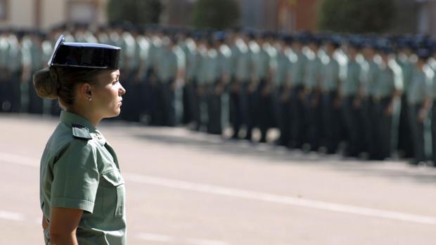 Imagen de archivo de una mujer guardia civil