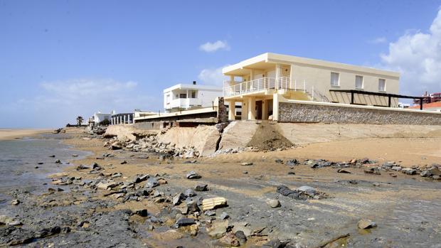 Estado de la playa tras el paso del temporal