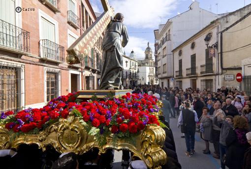 El Nazareno de Priego en el traslado del pasado domingo