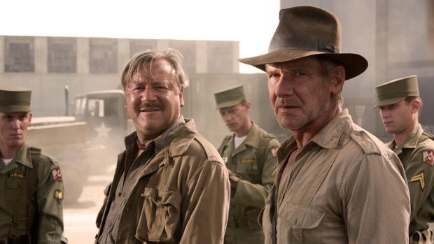 Harrison Ford interpretando al profesor Indiana Jones
