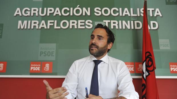 Daniel Pérez, actual portavoz del PSOE en el Ayuntamiento de Málaga