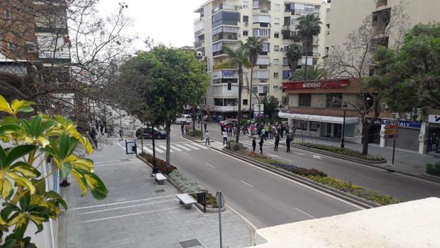 La avenida Ricardo Soriano acordonada