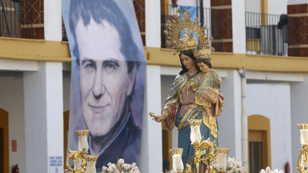 María Auxiliadora en su procesión del pasado año