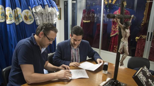 Momento de la firma del contrato