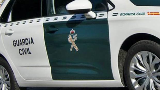 Imagen parcial de un vehículo de la Guardia Civil