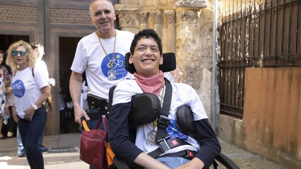 Javier y Antonio Luque, antes de la salida con la filial del Rocío