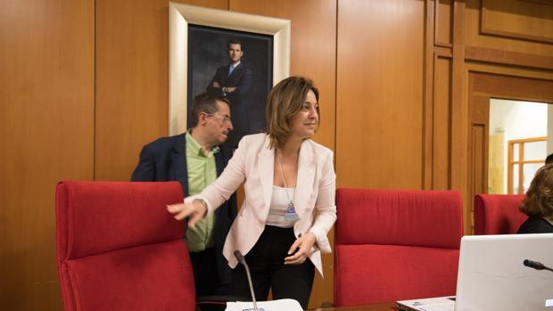 La alcaldesa de Córdoba, en en Pleno municipal de este martes