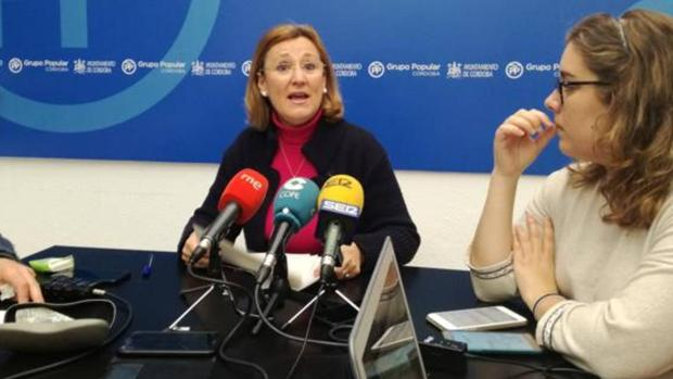 La edil del PP Laura Ruiz, durante una reciente comparecencia