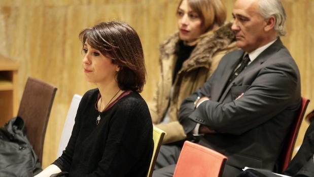 Juana Rivas durante la vista que se celebró en los juzgados de Granada