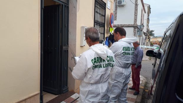 Agentes de la Benemérita durante la investigación en el domicilio donde entró a robar el fallecido