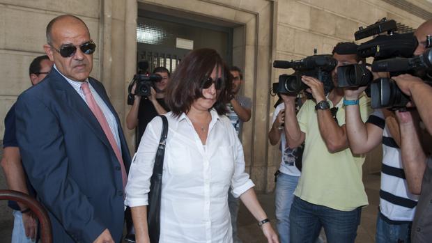 Maria Jose Rofa, cuando declaró en el juzgado en 2014