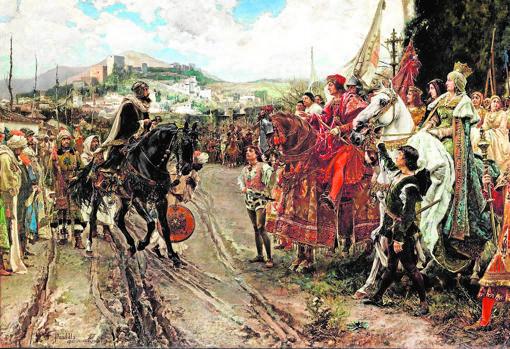 La rendición de Granada, pintada por Francisco Pradilla ABC