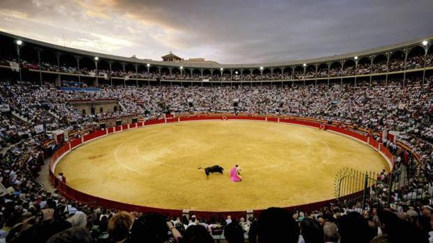 La Plaza de Toros de Granada, durante una corrida.