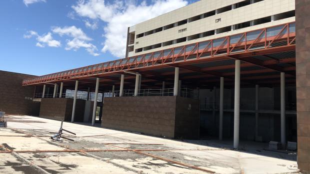 Obras de ampliación del hospital Costa del Sol en Marbella, paralizadas desde hace siete años