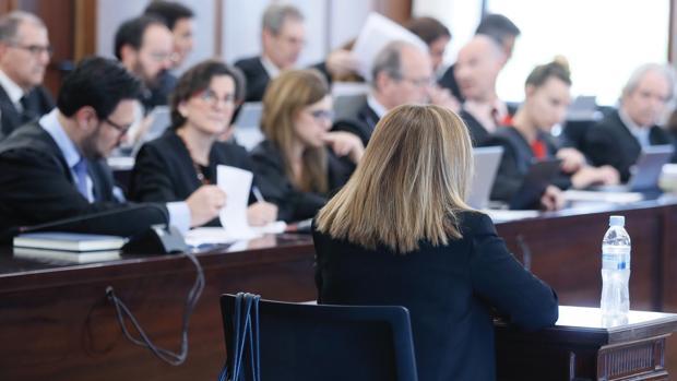 Teresa Arrieta , adjunta a la Intervención General en la Junta de Andalucía, en el juicio del caso ERE