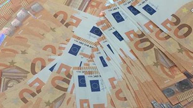Billetes incautados en una operación de la Policía Nacional