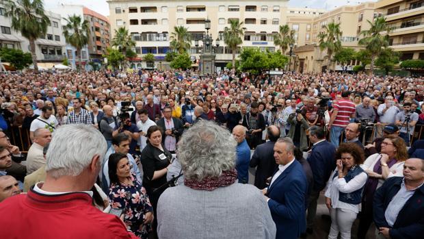 Imagen de la concentración contra el narcotráfico llevada a cabo el pasado mes en Algeciras.