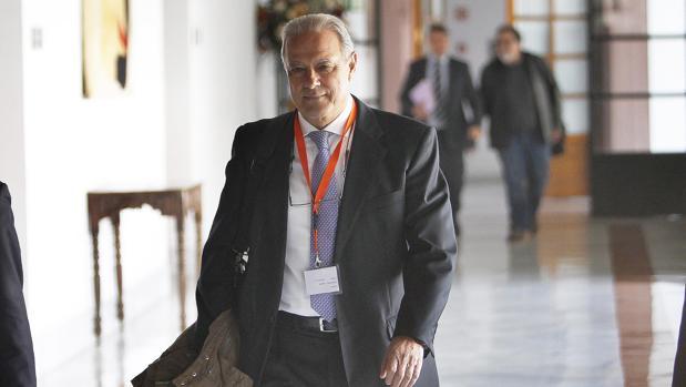 El exconsejero Ángel Ojeda en el Parlamento andaluz en 2016