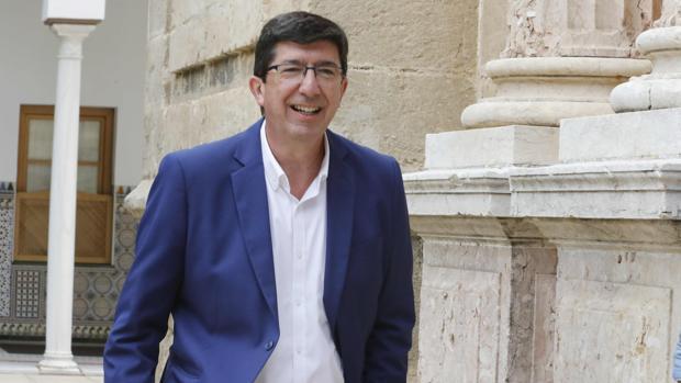 El líder de Ciudadanos, Juan Marín, en el Parlamento de Andalucía