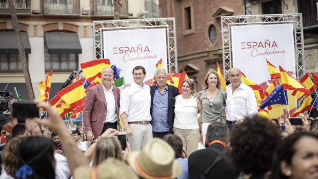 El acto celebrado de Ciudadanos celebrado ayer en Málaga contó con la presencia de Vargas Llosa