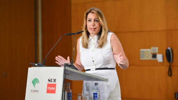 Susana Díaz, en el coloquio organizado por «Diario Sur» y Unicaja Banco en Málaga