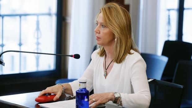 La auditora de la Cámara de Cuentas Nuria Mendoza, en la sala de la Audiencia de Sevilla