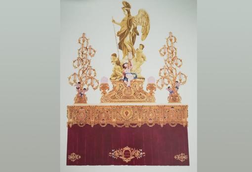 Un paso tallado y dorado para el Custodio de Córdoba