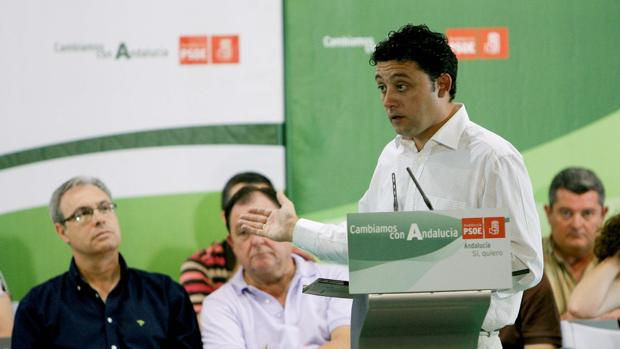 Rafael Velasco, en un acto del PSOE en Córdoba