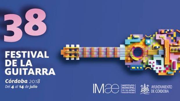 Cartel del Festival de la Guitarra de Córdoba 2018