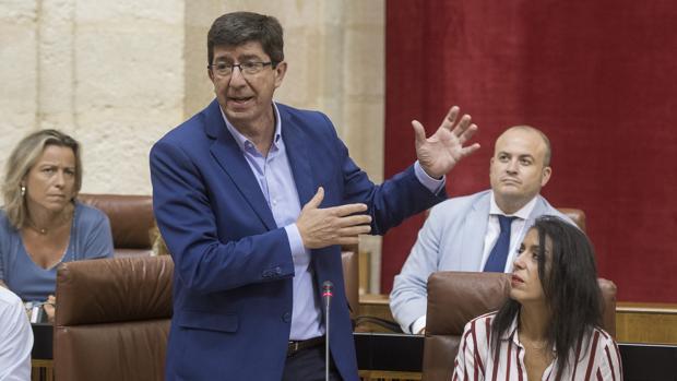 Juan Marín, portavoz de Ciudadanos en el Parlamento andaluz