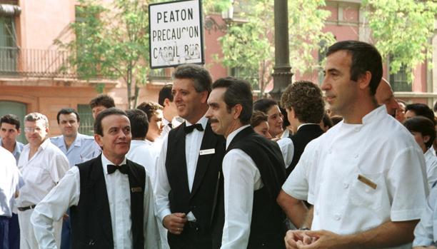 Trabajadores del hotel Alfonso XIII en Sevilla