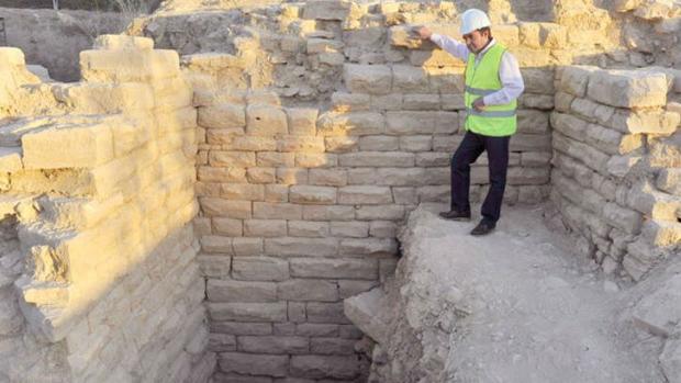 Restos del anfiteatro de Obulco exhumados durante la primera fase del proyecto