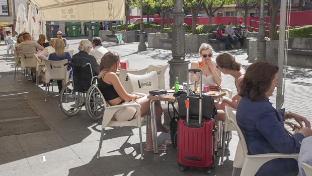 Terrazas en la plaza de Las Tendillas de Córdoba