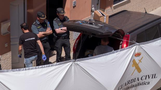 Imagen de la Guardia Civil en el lugar de los hechos