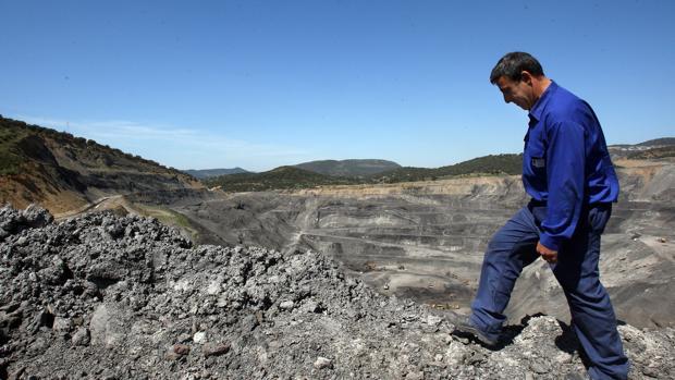 Un trabajador en una mina de Espiel