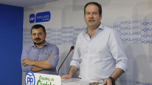 Adolfo Molina, en una comparecencia en el PP de Córdoba